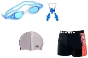 Morex Swimming Cap, Googles, Trunks, Earplug & Noseplug (Swimming kit ) CB-93
