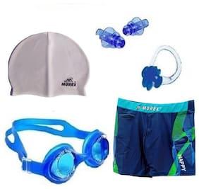 Morex Swimming Cap, Googles, Trunks (Size-XL), Ear plug & Nose plug CB-219