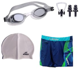 Morex Swimming Cap, Googles, Trunks (Size-XL), Ear plug & Nose plug CB-226