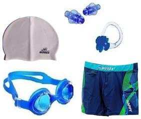 Morex Swimming Cap, Googles, Trunks (Size-XL), Ear plug & Nose plug CB-227