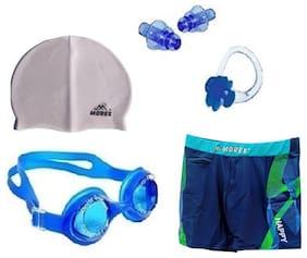 Morex Swimming Cap, Googles, Trunks (Size-XL), Ear plug & Nose plug CB-217