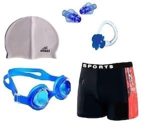 Morex Swimming Cap,Goggles, Trunks, Earplug & Noseplug CB-59