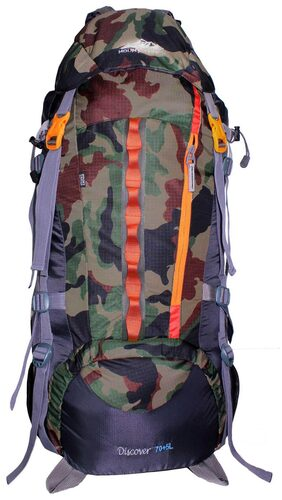 Mount Track Discover 9107 Rucksack, Hiking Backpack 75 Ltrs Black with Rain Cover