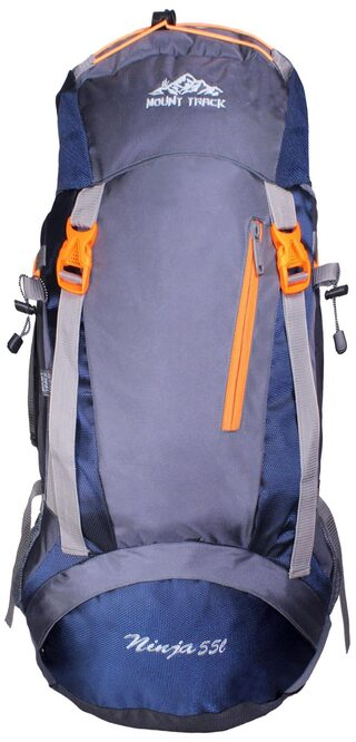 Mount Track Ninja 9110 Rucksack  Hiking Backpack 55 Ltrs Blue with Rain Cover
