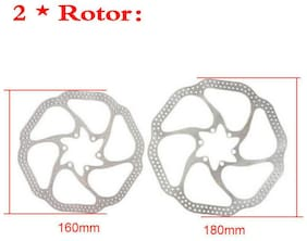 MTB Bike Front Rear Hydraulic Calipers Disc Brakes 160/180mm Disc Brake Rotors