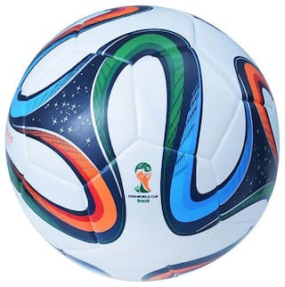 Multicolor Brazuca Football Pack of 2 Balls (Size-5)