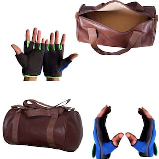 b42df018f0b9 Multipurpose Gym Bag   Gym Gloves With Padded Palm Support(Combo of 1 GYM  Bag