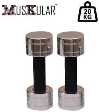 Muskular 10 kg X 2 pcs Fixed Steel Dumbbells