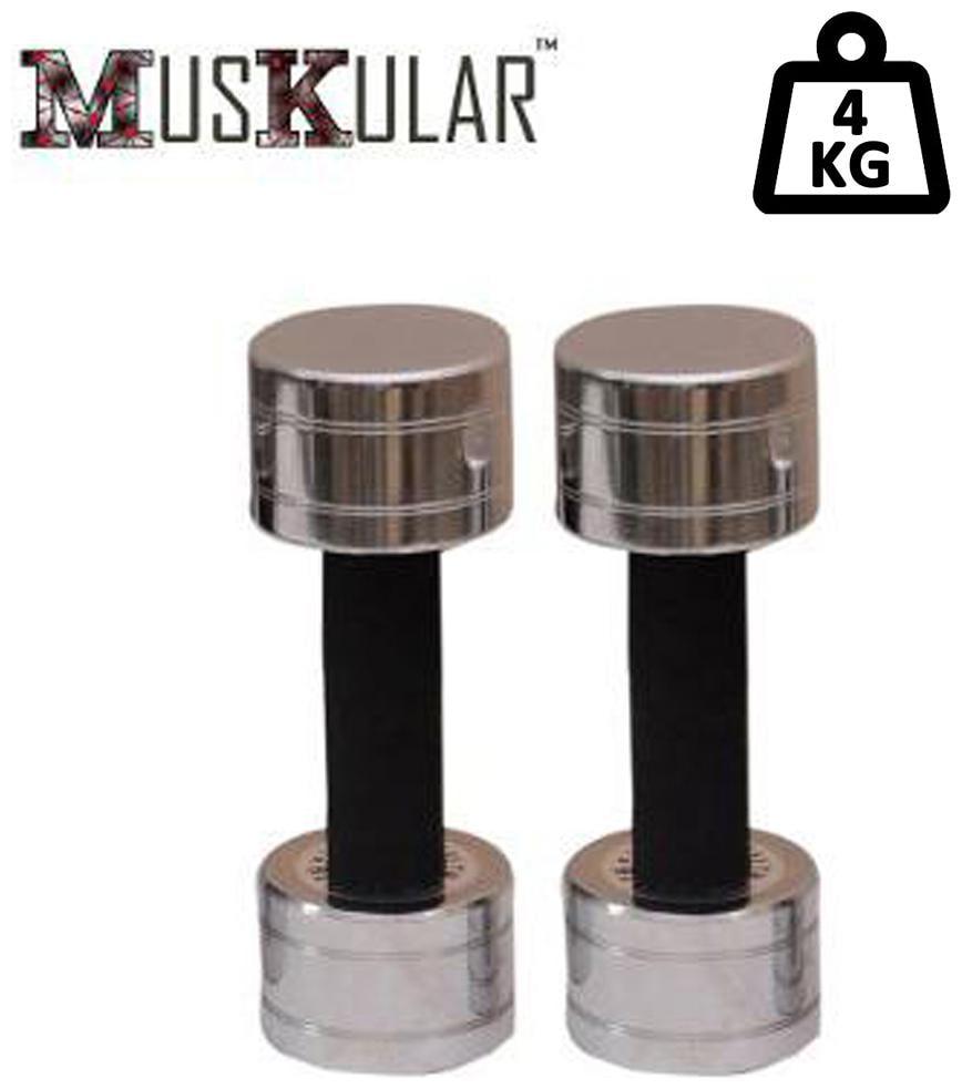 Muskular 2 kg X 2 pcs Fixed Steel Dumbbells by Sports Hubb