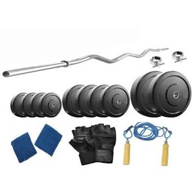 Muskular 20 kg with 3 feet curl rod Home gym package for Beginners