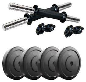 Muskular 20 kg PVC Dumbells Sets;PVC Plates + Dumbells Rods