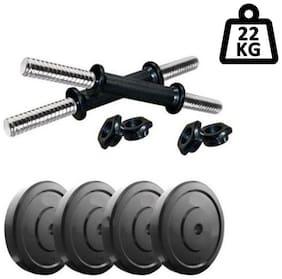 Muskular 22 kg PVC Dumbells Sets;PVC Plates + Dumbells Rods