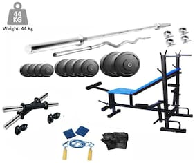 Muskular 44 Kgs PVC weight with 8 in 1 Bench home gym package