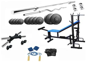 Muskular 48 Kgs PVC weight with 8 in 1 Bench home gym package