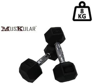 Muskular Hex Dumbells 4 kg Pair