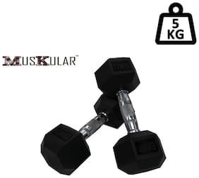 Muskular Hex Dumbells 2.5 kg Pair