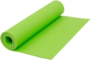 Narains Packaging(Green) Yoga Mat 6mm Thick and Non-Slippery Washable