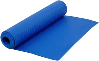 Narains Packaging (Blue) Yoga Mat 4mm Thick and Non-Slippery Washable