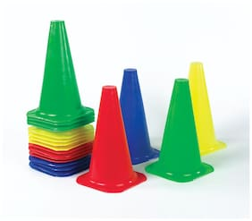 NATIONAL SPORTS MARKER CONE PACK 25 , 9 inches for Soccer Cricket Track and Field Sports
