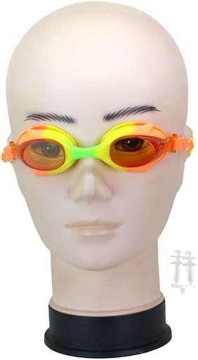 Neska Moda Kids Anti-Fog & UV Protected Multicolor Swimming Goggle With Earplugs-Swim60