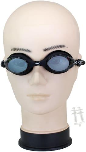 Neska Moda Unisex Anti-Fog & UV Protected Swimming Goggle With Earplugs Black-Swim68