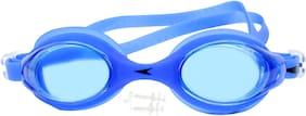 Neska Moda Unisex Anti-Fog & UV Protected Swimming Goggle With Earplugs Blue-Swim67