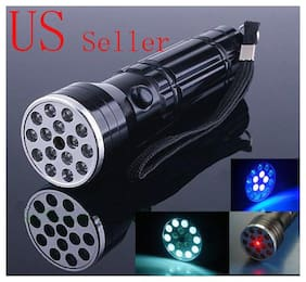New 15 LED+UV+LASER Ultraviolet Flashlight Light Torch
