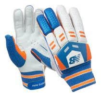 New Balance DC 380 PU & Leather Batting Gloves Ideal For Right Handed  Men's White /Orange/Blue