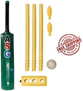 NEW COMPLETE HARD PLASTIC CRICKET KIT FOR KIDS AGE 3-6 YEARS FREE SHIPPING