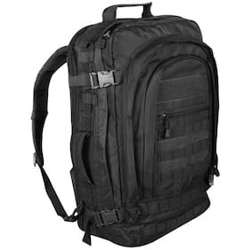 NEW - Military Tactical Jumbo Modular MOLLE Field Backpack 24x13x12 - SWAT BLACK