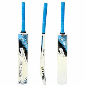 NEW Zeepk Tennis Tape Ball Cricket Bat Full Size Hand Made Kashmir Willow Blue