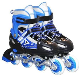 NISWA High quality Skating in-line Shoe have different size and with PU LED wheel In-line Skates (Blue)