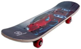 NISWA Special Printed Skateboard 6 inch Big Size Skateboard only red car print Skateboard (Multicolor, Pack of 1)