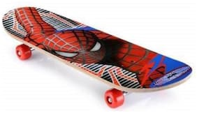 NISWA Special Printed Skateboard 6 inch Big Size Skateboard only Spiderman print Skateboard (Multicolor, Pack of 1)