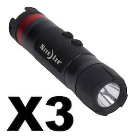 Nite Ize Radiant 3-in-1 LED Mini Flashlight Black 80 Lumen Lantern Light(3-Pack)