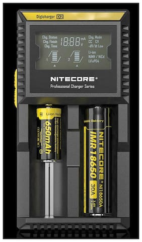 Nitecore Digicharger Battery Charger D2 2 Battery Slots
