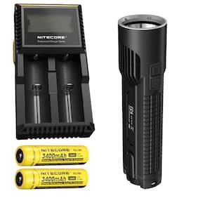 Nitecore EC4 1000Lm XM-L2 U2 LED Flashlight w/D2 Charger & 2x NL189 Batteries
