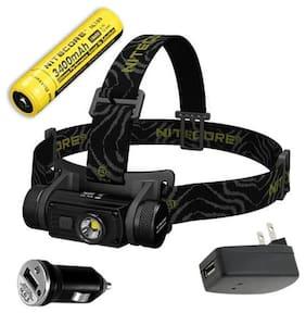 Nitecore HC60 Rechargeable Headlamp 1000Lm w/3400mAh Battery +Car & Wall Adaptor