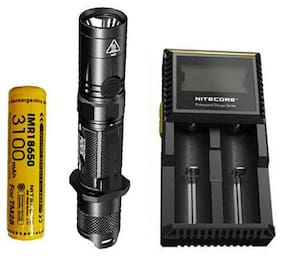 Nitecore P12GTS Flashlight -XHP35 HD LED w/10A 3100mAh Battery +D2 Charger