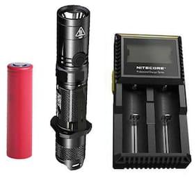 Nitecore P12GTS Flashlight -XHP35 HD LED w/Panasonic 3500mAh Battery +D2 Charger