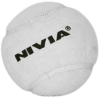 03db5622344 Buy Nivia 3813 Cricket Tennis Ball Cricket Ball-White Online at Low ...