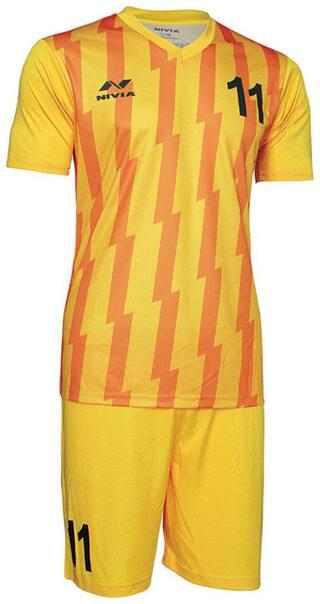 buy popular d88dc 33521 Nivia Encounter Sublimation Football Jersey Set-Yellow