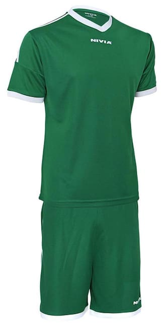 8101b054ea1 Buy Nivia Ultra Football Jersey Set-Green Online at Low Prices in ...