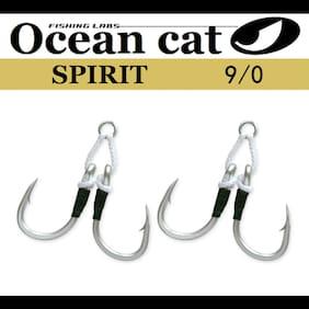 OCEAN CAT Assist Hook Spirit Circle Hook Double Stinger Jigging Jigs Size 9/0