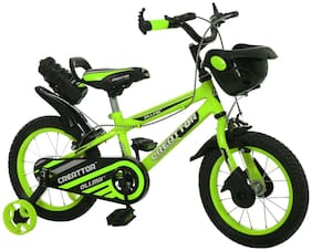 Ollmii  Bikes, Creattor  14 inch (Green) BMX Series, Unisex, Kids Cycle for 3 to 5 Yrs