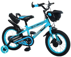 Ollmii  Bikes, Creattor  14 inch (Blue) BMX Series, Unisex, Kids Cycle for 3 to 5 Yrs