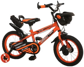 Ollmii  Bikes, Creattor  14 inches (Orange) BMX Series, Unisex, Kids Cycle for 3 to 5 Years
