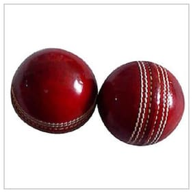 OMS best Qwality 2 leather-ball 4 Pisse Red (pack of 2)