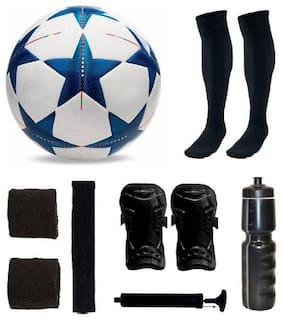oms uefa football complete kit with supports ,shine guards and one pump and one sipper Football Kit