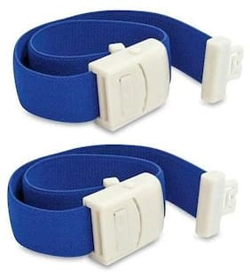 Otica Tourniquet Band for Blood Collection Rubber with Plastic Buckle (Blue)- (Pack of 2)